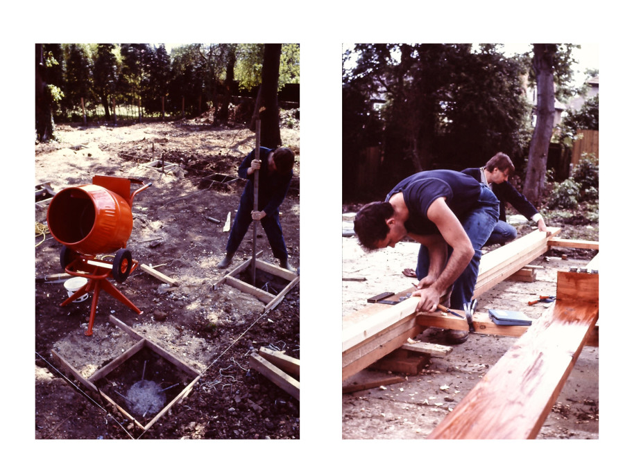 Foundation stage and setting out the frame, c1970s. (Photos courtesy Jon Broome)
