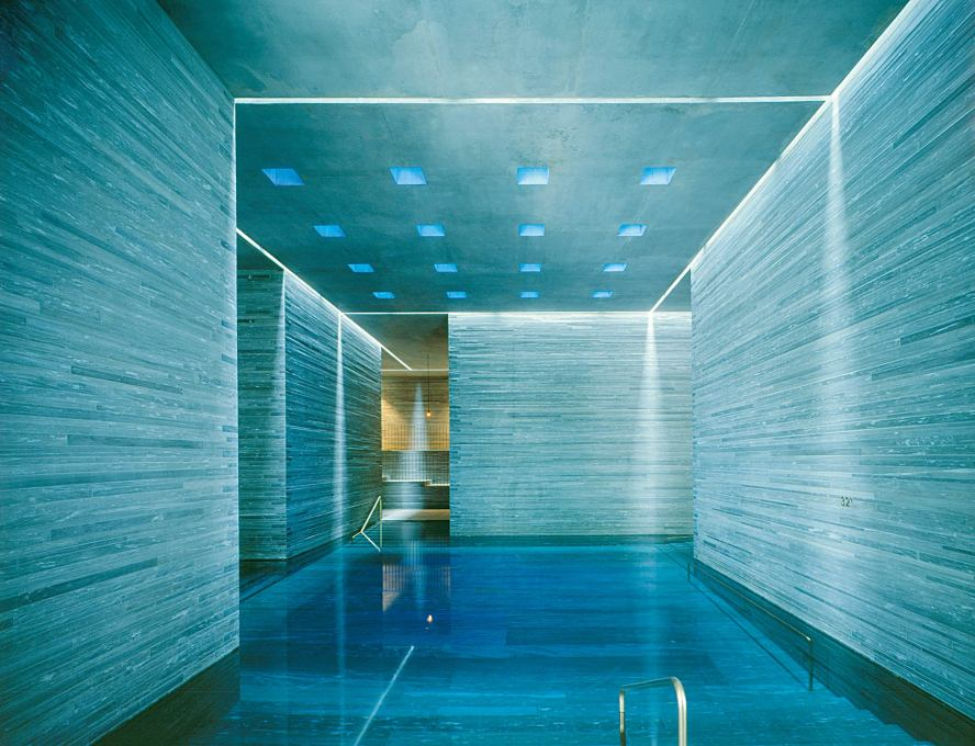 One of the inside baths. (Courtesy Hotel Therme Vals)