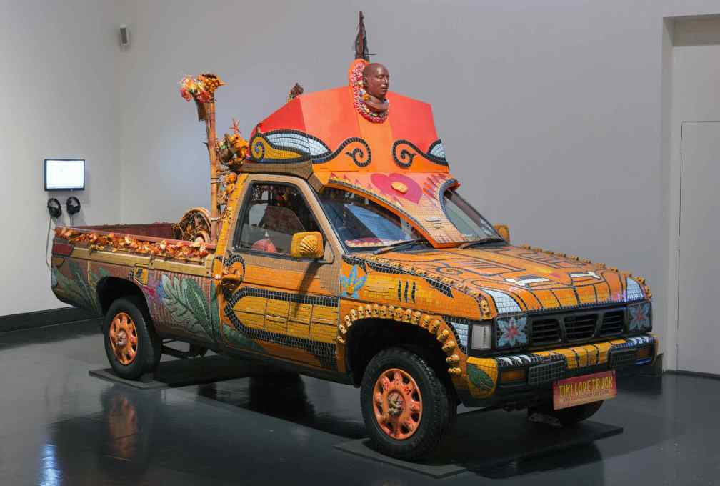 Carrie Reichhardt's Tiki Love Truck was part of a demonstration against the death penalty and was dedicated to the memory of a death-row inmate. (Photo © Victoria and Albert Museum)