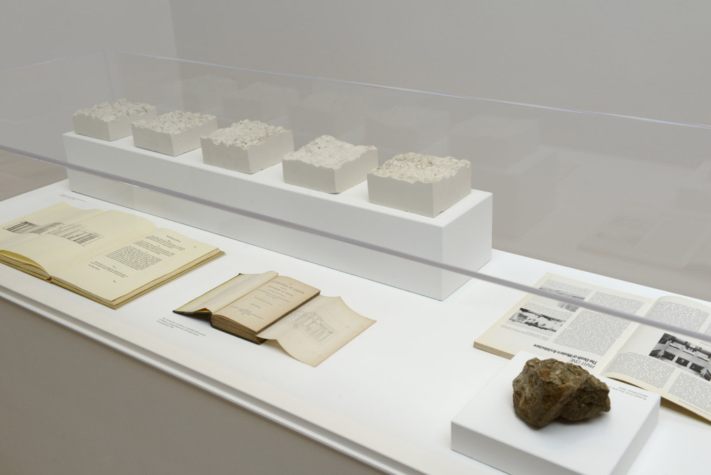 The museum-like displays have relics of modernism: here a chunk of the Pruitt Igoe housing estate that was blown up in 1972. (Photo: Cristiano Corte / British Council)