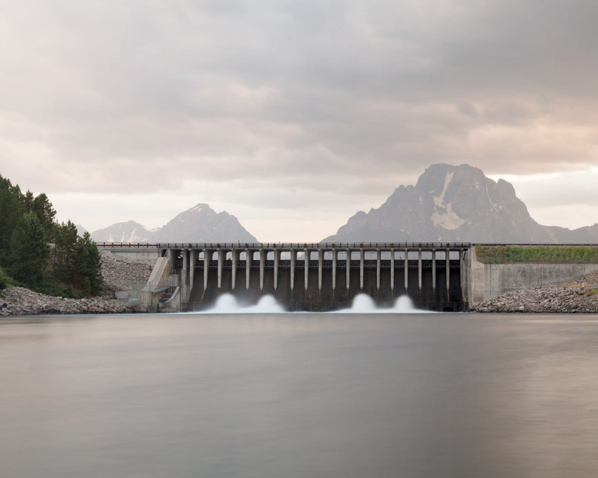 Jackson Lake Dam, Wyoming 2015.