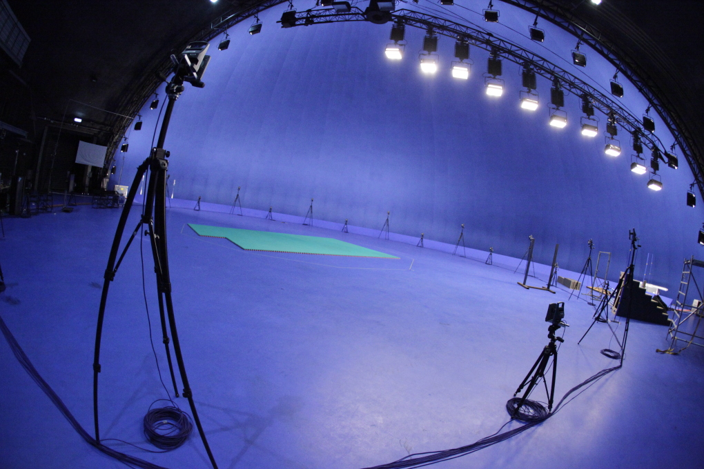 Alvernia Studios is home to the largest spherical blue screen in the world, allowing for limitless special effects possibilities. (Photo courtesy Alvernia Studios)