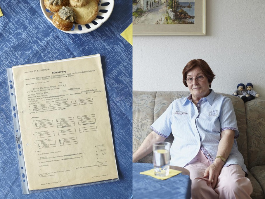 Ursula Gütz with her original lease contract from 1970.