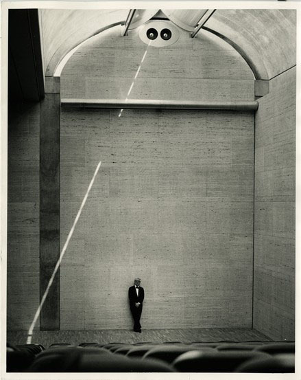 Kahn at the Kimbell Art Museum, Fort Worth, 1972. Image: Robert Wharton