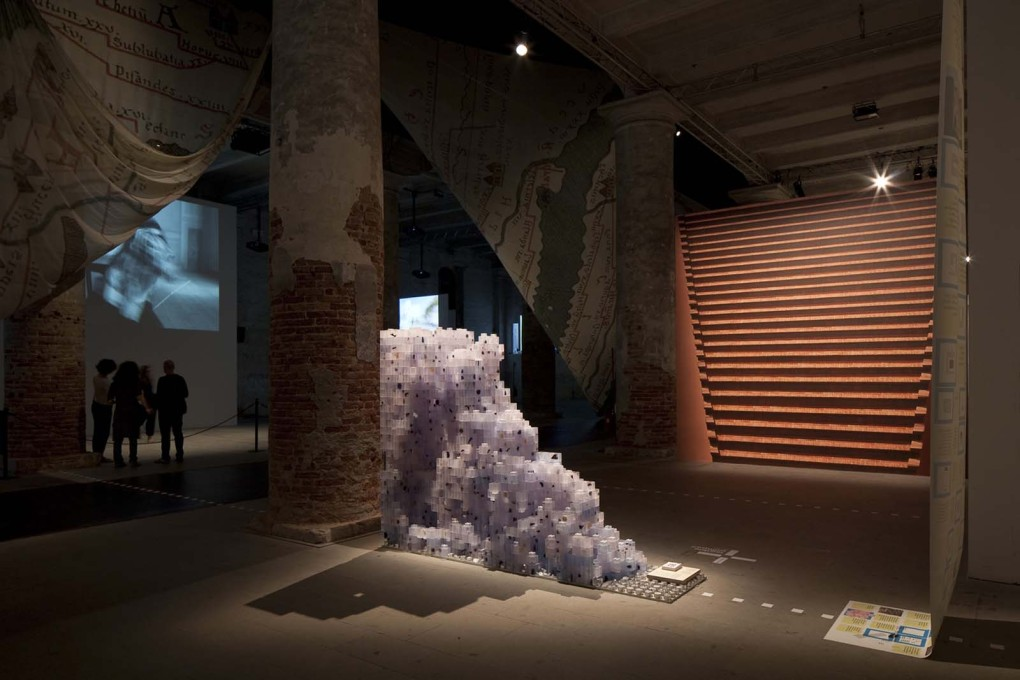 """Legible Pompeii"" by Lucia Allais, MOS, in the ""Monditalia"". (Photo: Francesco Galli, Courtesy la Biennale di Venezia)"