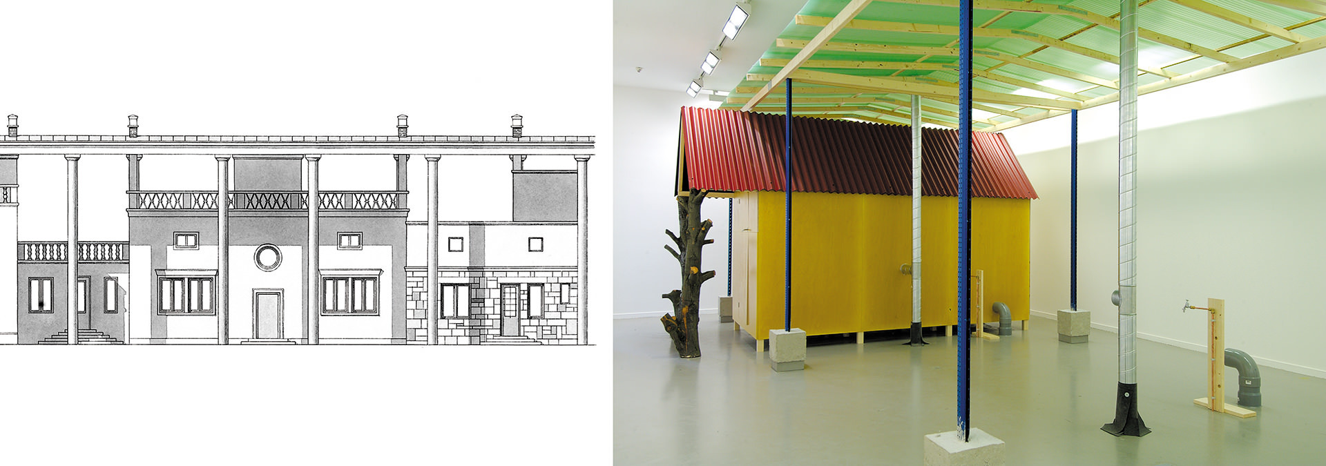 """Ljubljana under a Common Roof"" was a case study based on the Ple?nik model. De Appel Foundation for Contemporary Art, Amsterdam, 2004. (Images courtesy the artist)"