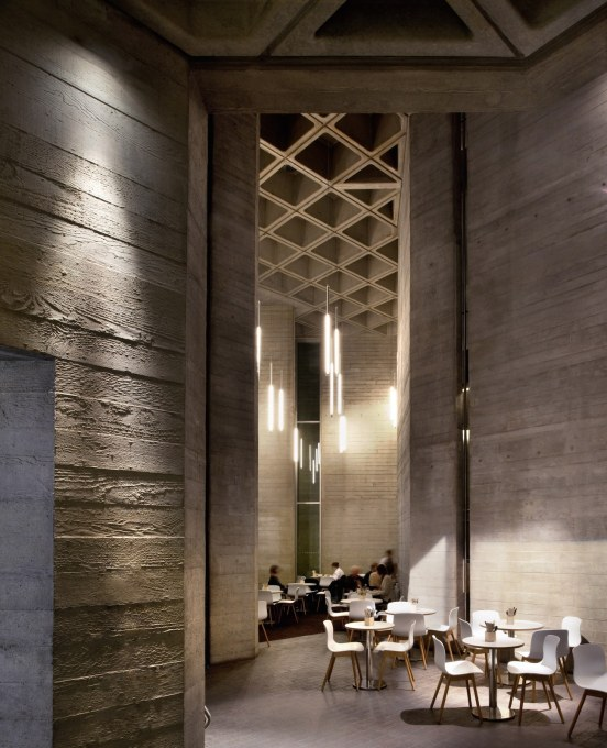 The Lyttelton foyer with board-marked concrete detail. (Photo: Philip Vile)