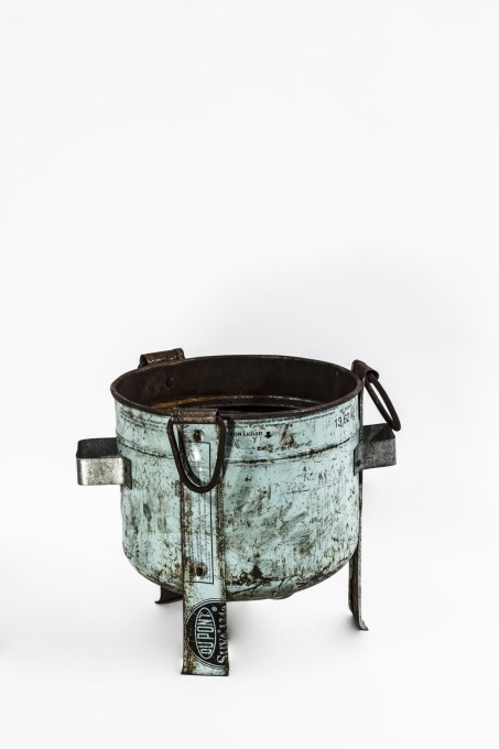 Jiko Ya Mabati – a wood or charcoal-fuelled stove made from old gas bottles. (Photo © Francesco Giustu and Filippo Romano, LaTriennale di Milano)