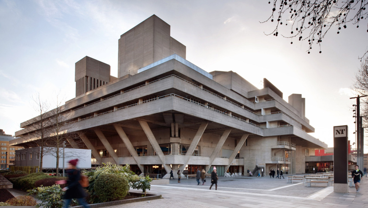 Denys Lasdun's National Theatre viewed from the north-east. (Photo: Philip Vile)
