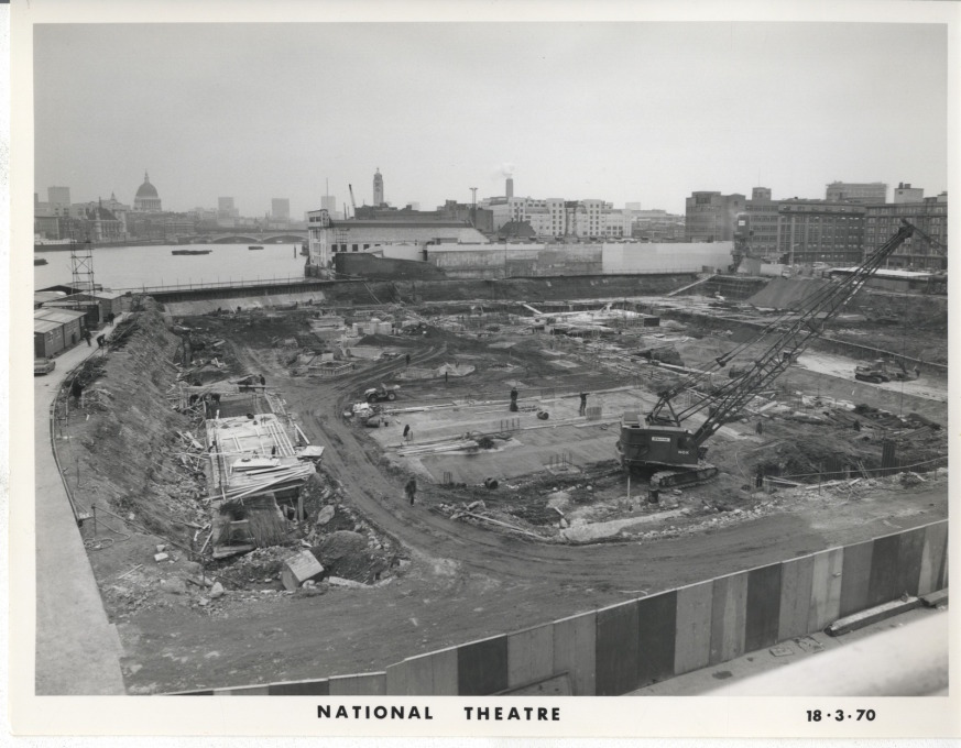 The National Theatre in construction, March 1970. (Photo courtesy NT Archive)