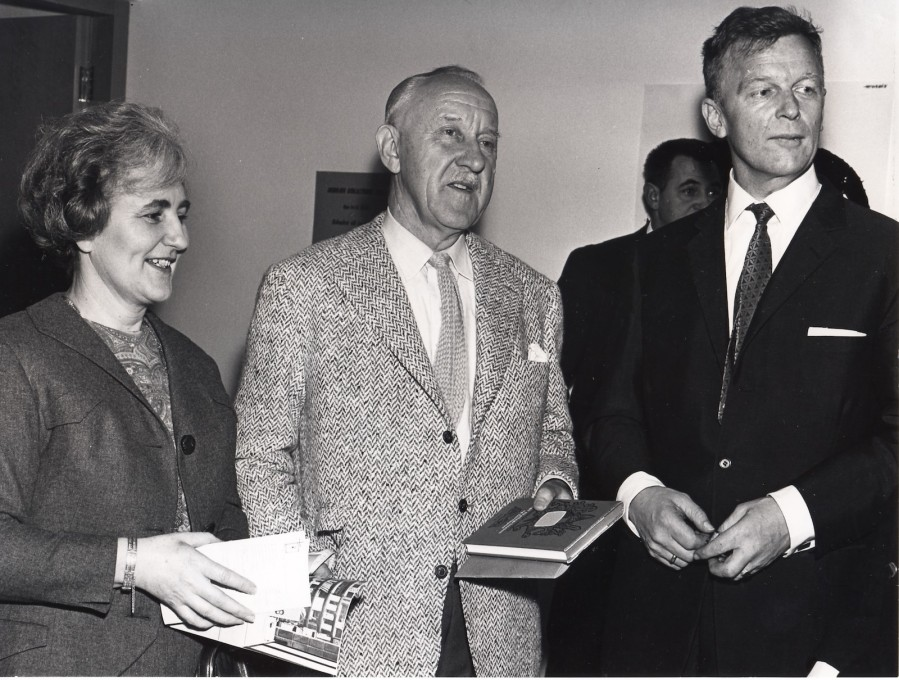 ...and cultural ambassadors such as Iceland's Nobel Prize-winning author, Halldór Laxness (centre).
