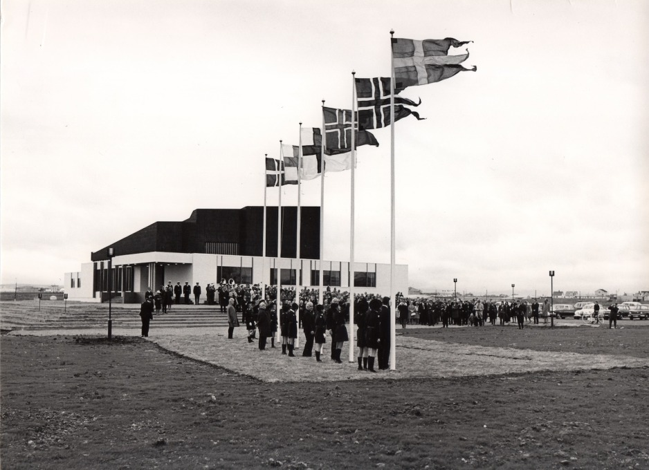 The Nordic House inauguration in 1968 was attended by representatives from Iceland, Finland, Sweden, Denmark... (All photos © Mats Wibe Lund, unless otherwise stated)