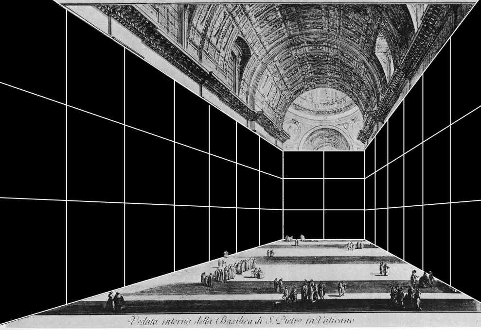 """Internal structure of St Peter's, Vatican""."
