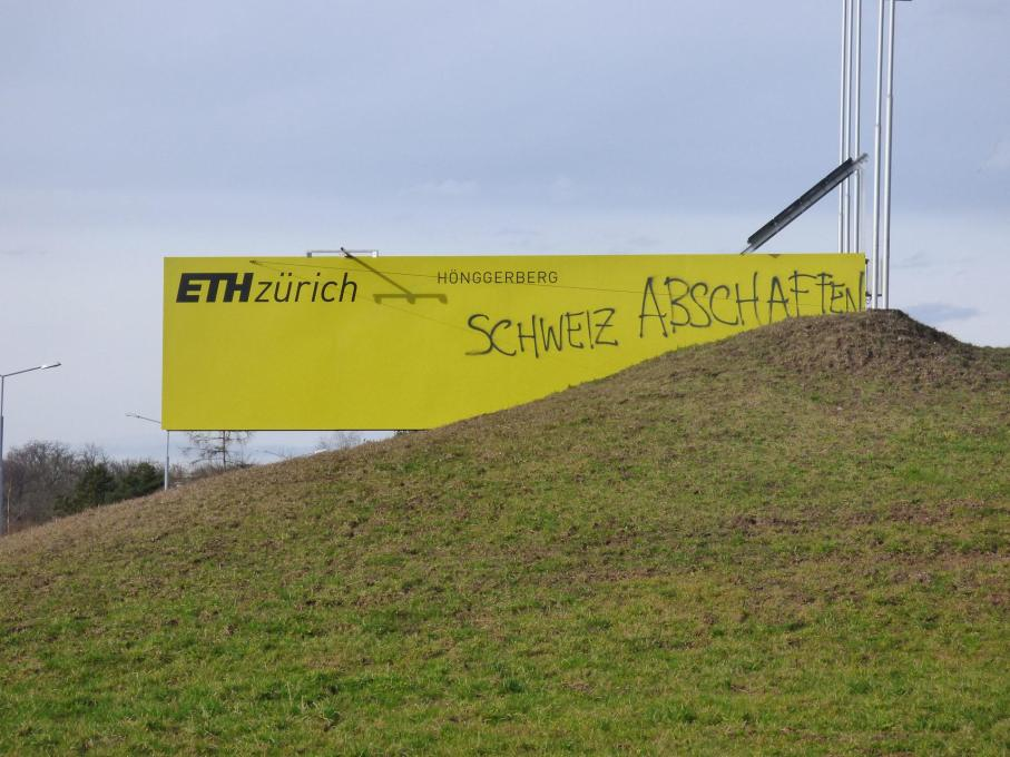Abolish Switzerland: whilst outside ETH the country was in political turmoil over a narrow vote to curb immigration...
