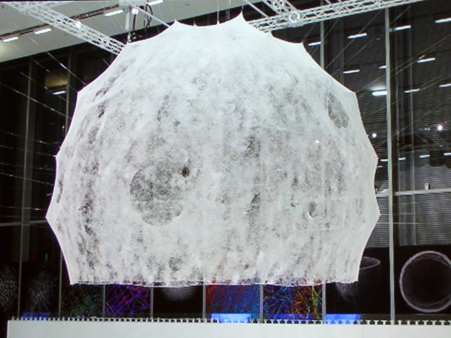 A silkworm-woven Bucky Fuller dome: research from the MIT Media Lab, presented by Jared Laucks.