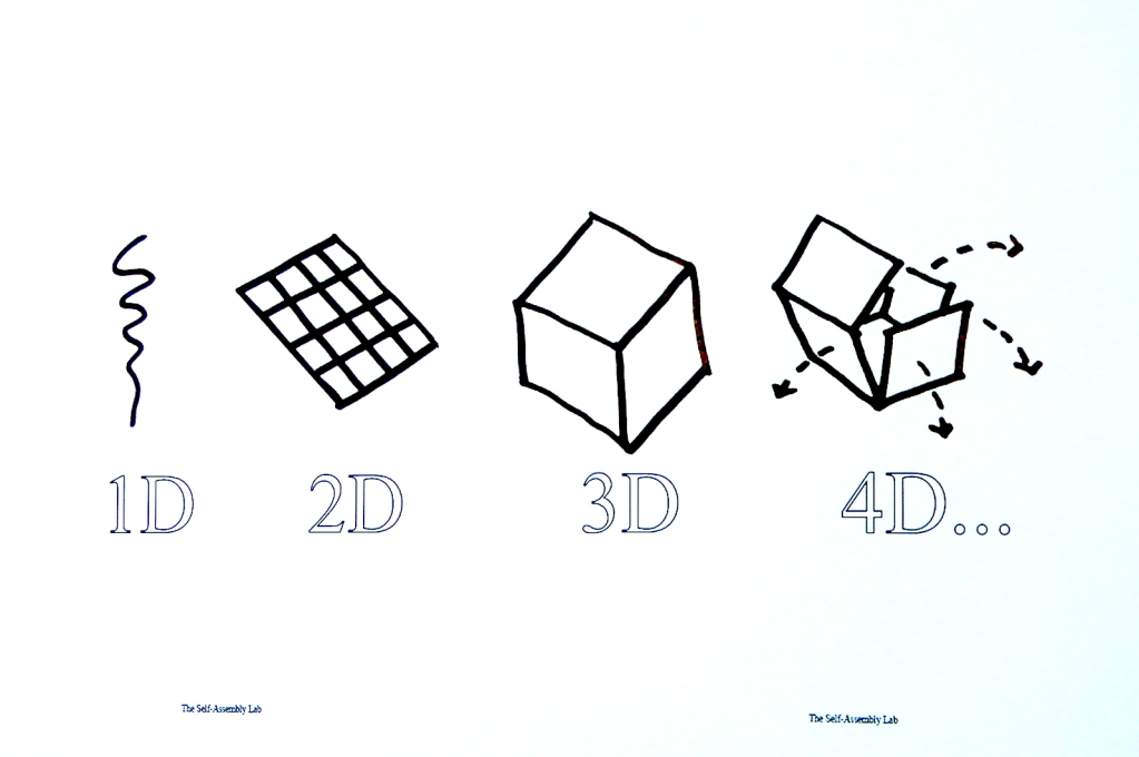Un-cubing! 4D printing explained: assembled objects have embedded material intelligence, meaning they can disassemble themselves when no longer needed...