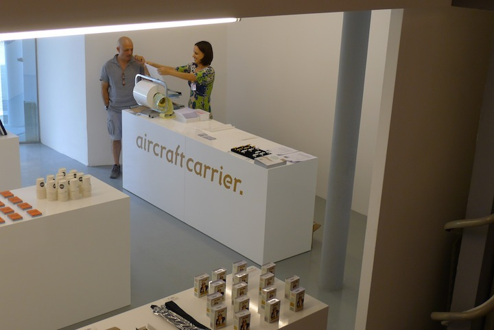 "The ""giftshop"" as part of Aircraftcarrier at the Venice Architecture Biennale (Photo: Benedikt Hotze)"