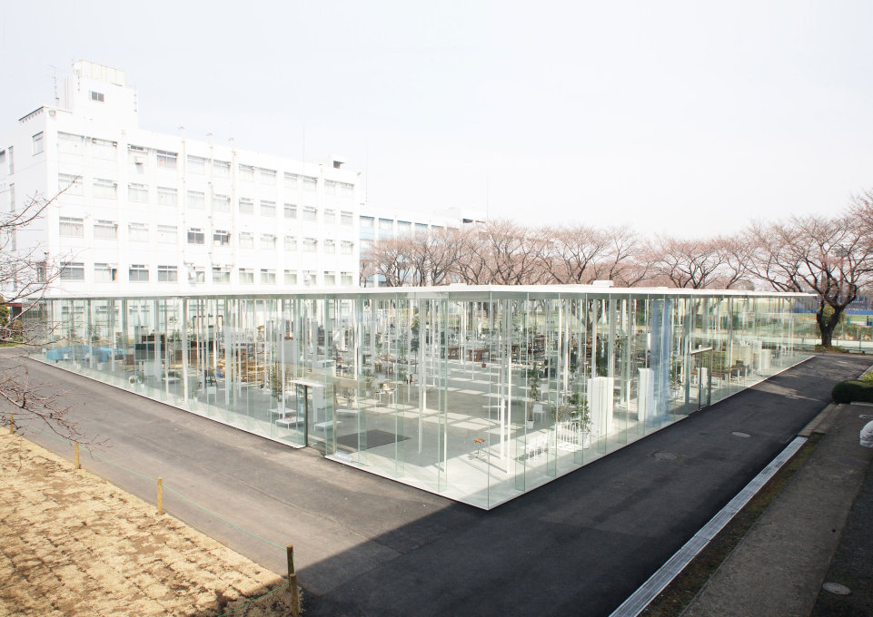 Almost as light as the surrounding air: The Kanagawa Institute for Technology's workshop by Junya Ishigami, built in 2010.