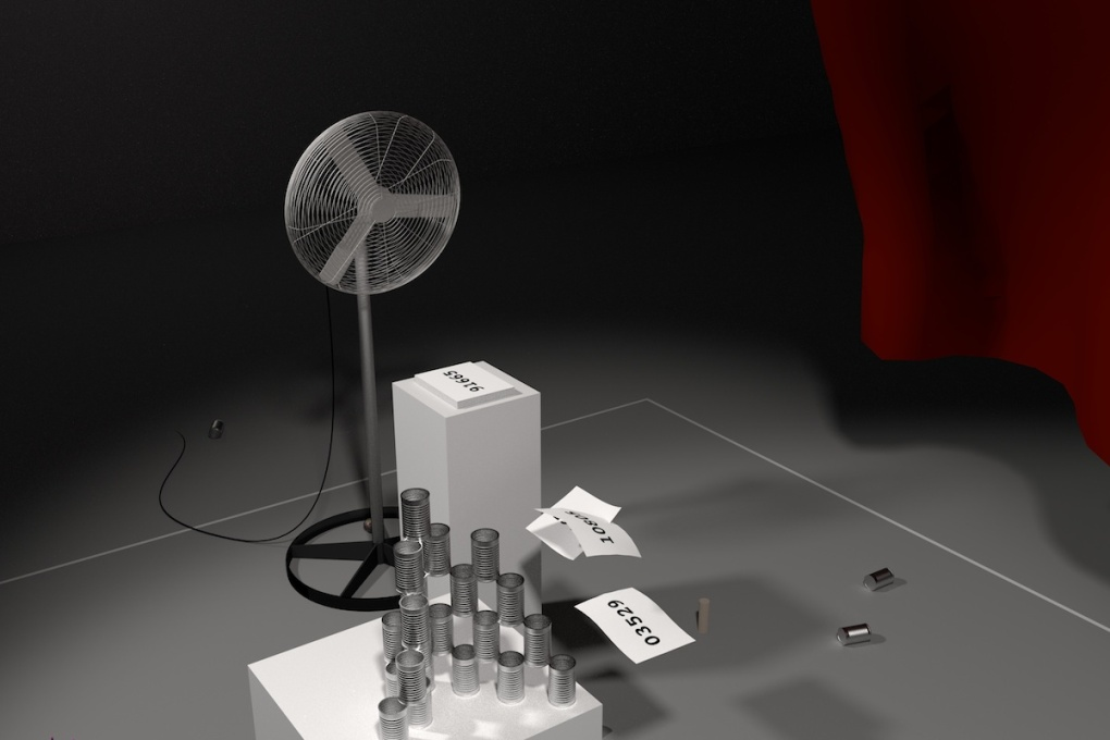 "A rendering of the ""Elsewheres"" installation when it was shown at Eyebeam in New York."