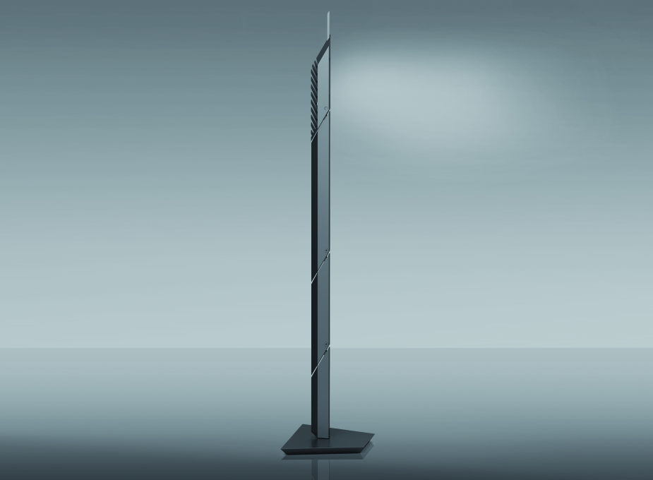 Daniel Libeskind could be seen with his Paragon lamp from Artemide, which is indisputably consistent with his style...