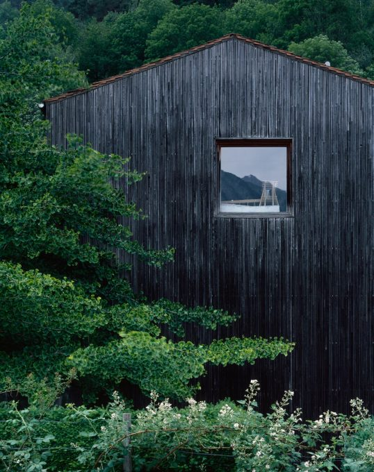 Studio of Peter Zumthor in Graubünden, Switzerland.