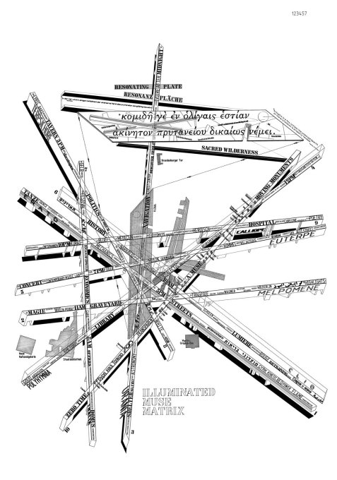 "Libeskind's ""Illuminated Muse Matrix"", an illustration demonstrating the various ways in which Berlin's history has shaped and divided the topology of the space. (Photo © Studio Libeskind)"