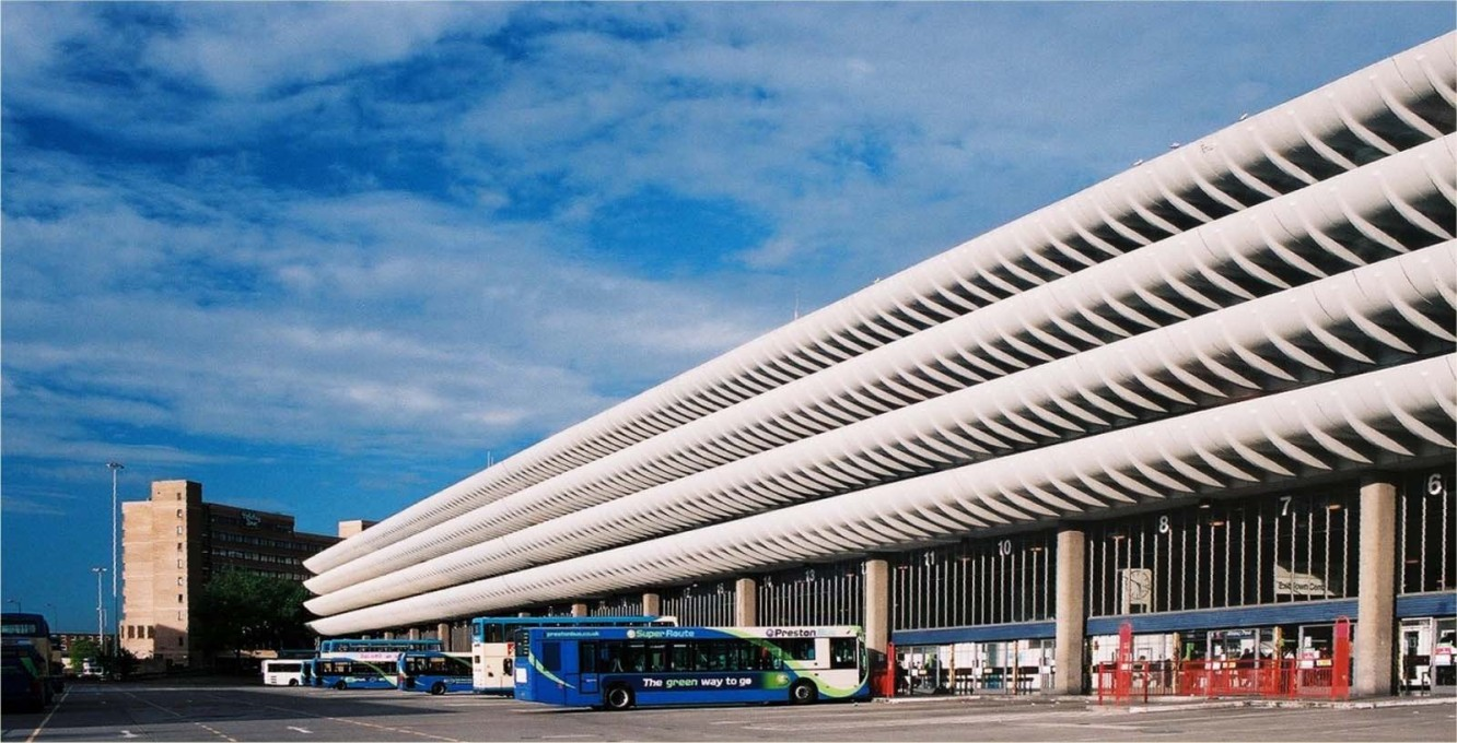 Slated for demolition around 2000, the Preston Bus Station in Lancashire, UK was saved after a national and international campaign. (Photo: Dr Greg, 2007 (CC BY-SA 2.0))