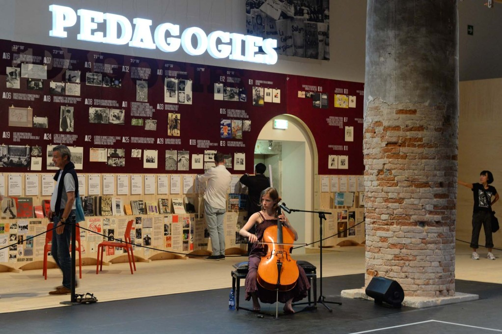 """Radical Pedagogies"" in the ""Monditalia"". (Photo: Giorgio Zucchiatti, Courtesy la Biennale di Venezia)"