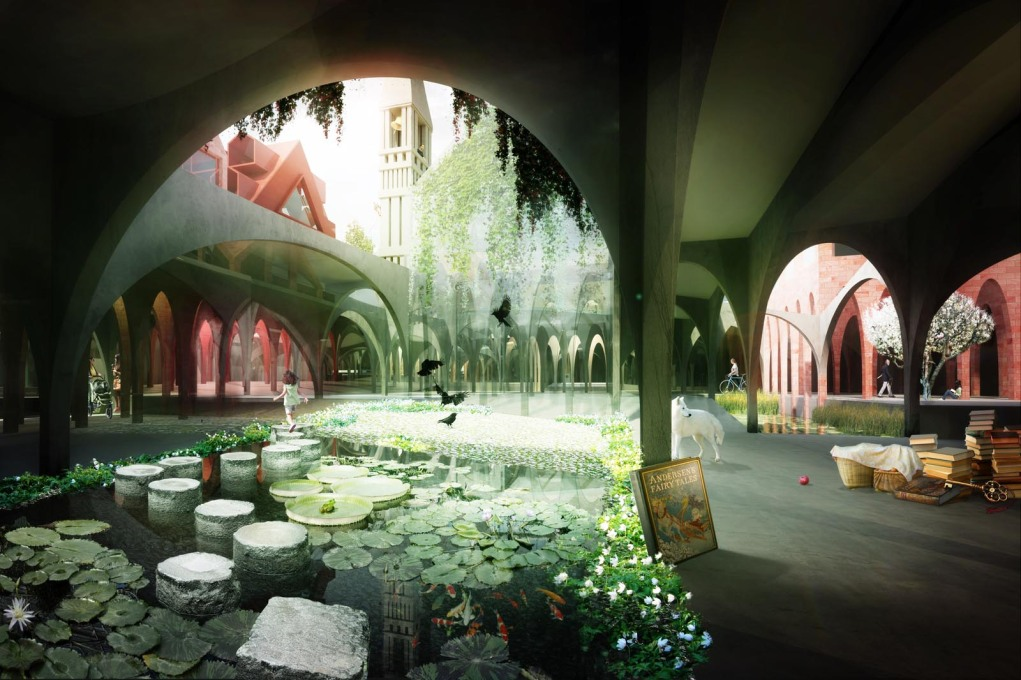 "Studio Weave's render of the underworld of the ""House of Fairytales"". Where is the little girl going?... (Image courtesy Studio Weave)"