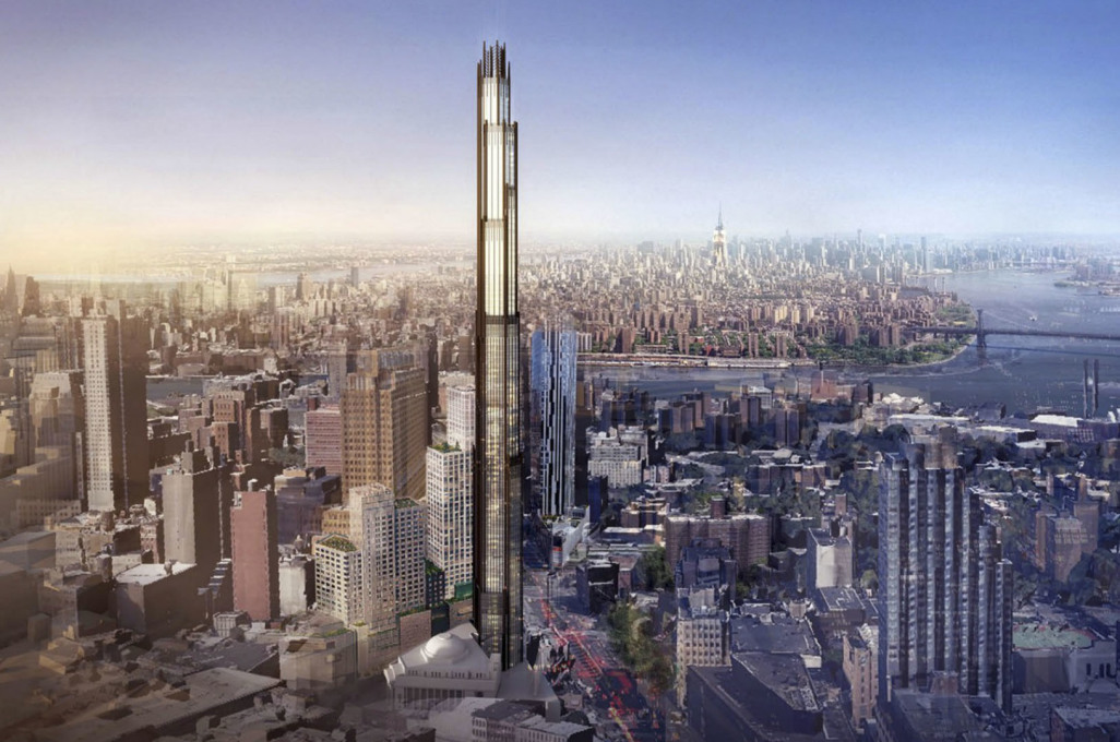 340 Flatbush Avenue, also by ShoP Architects, a soaring tower set to stand at over 300 metres (1,000 feet) that will comfortably be the tallest structure in Brooklyn... (Image courtesy Pacific Park)