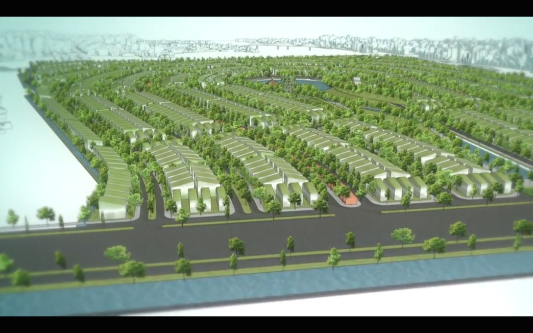 ...gives the opportunity to plan afresh a whole new chunk of city...