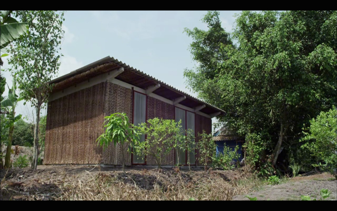 However far from the city in the Mekong Delta, Nghia's own company put the money up to fund a new prototype house...