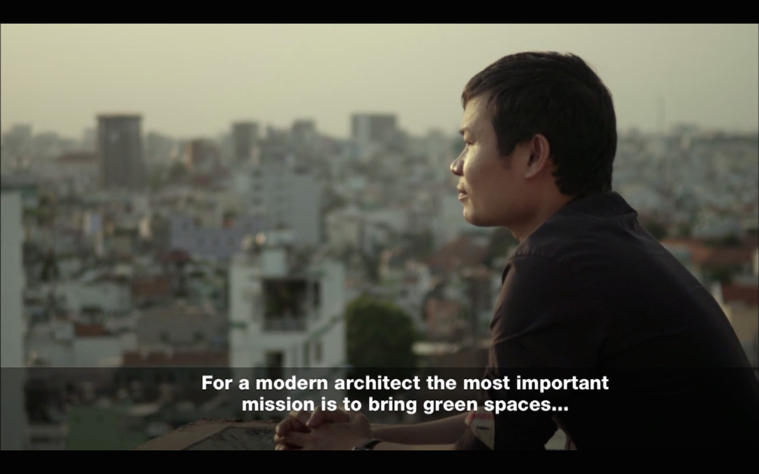 Architect Vo Trong Nghia has green dreams...  (All video stills: Al Jazeera)