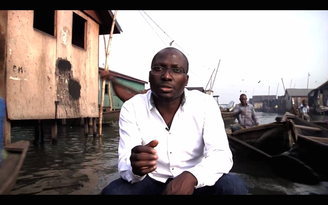 "Kunlé Adeyemi is a Nigerian architect who envisions a solution to flooding and overcrowding with his ""floating buildings""."