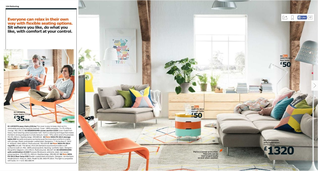 IKEA, on the other hand, has been criticised for its normative ideals. (Screenshot of IKEA 2015 online catalogue)