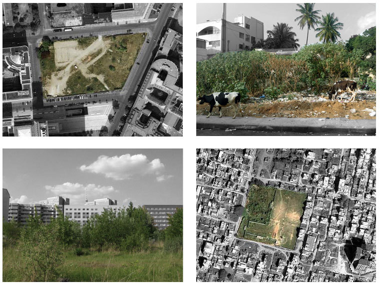 Comparing wastelands in Berlin and Bangalore. (Photo courtesy Wasteland Twinning)
