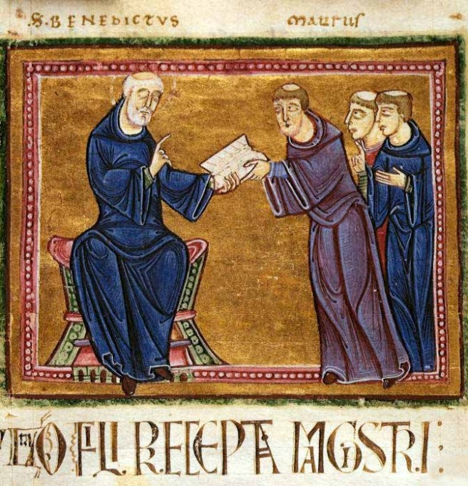 "The book of religious precepts called the ""Rule of Saint Benedict"" was written by St. Benedict of Nursia (c.480–547), and has been popular throughout history for its emphasis on moderation. (Image: Wikimedia Commons)"