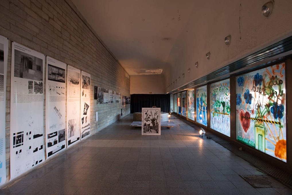 TAB Architecture Schools exhibition in the Soviet/modernist Linnahall building (Photo: Tonu Tunnel).