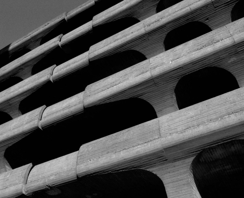 Safe from demolition...for now...Temple Street Parking Garage by Paul Rudolph, New Haven, USA, 1958–1963. (Photo: Seth Tisue, 2008)