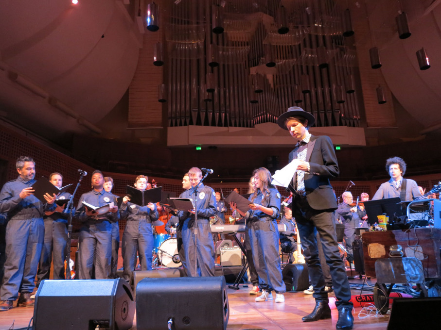The ISO and Beck during rehearsal at Davies Symphony Hall. (Photo courtesy Nelly Ben Hayoun)