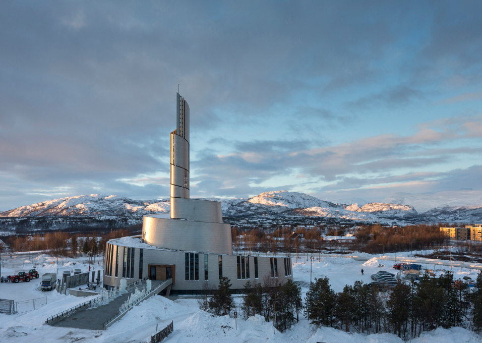 With the belfry reaching 47 meters, the cathedral is now the highest building in the small Norwegian town of Alta. (Photo: Adam Mørk)