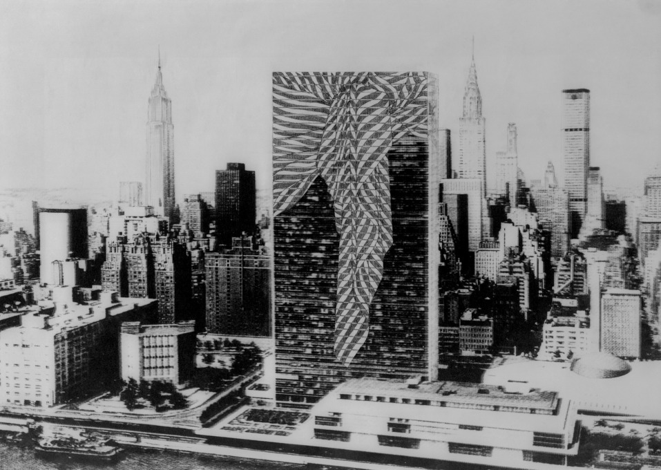 ...in this case that of the UN Building in New York. (Image courtesy Fri Art and Trix and Robert Haussmann)