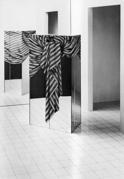 """Lehrstück IV"" from 1978, lesson one in the Haussmann's didactic series of pieces, a cabinet referencing architecture... (Photo courtesy Fri Art and Trix and Robert Haussmann)"