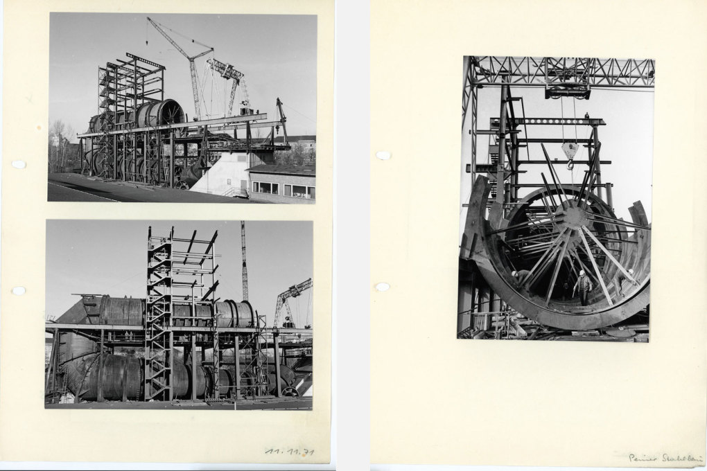 Construction shots of the Circulation Tank. (Photo © former VWS Berlin Archive)