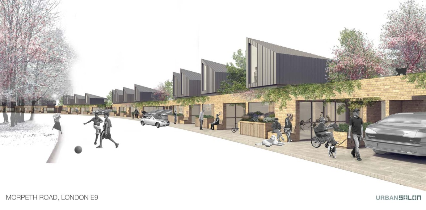 "An alternative proposal for the Morpeth Road site by Urban Salon, who were also selected for the Peabody ""Small Projects Panel"". (Photo: © Peabody/ Urban Salon Ltd)"