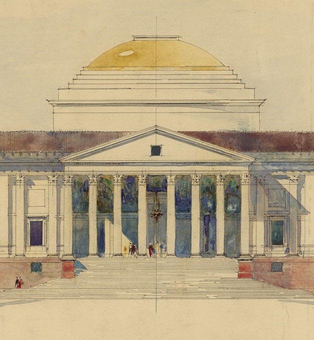 Viceroy's House, New Delhi by Edwin Lutyens, 1912. (Image © RIBA Collections)