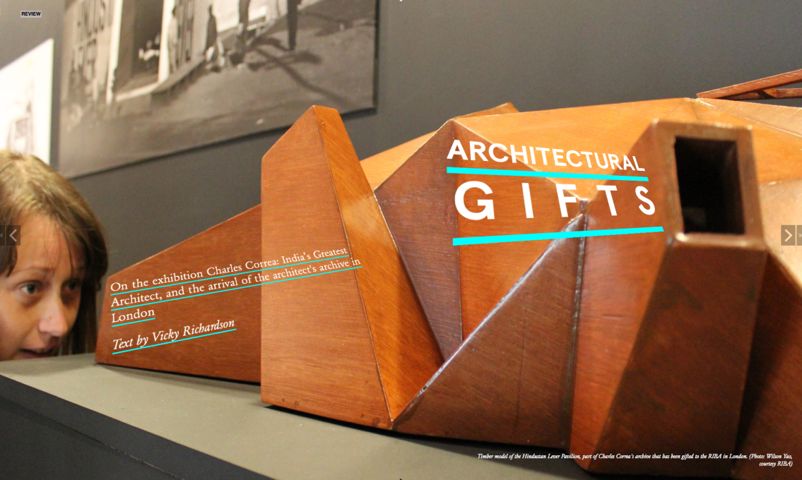 Architectural Gifts... the beautiful wood model of the 1961 Hindustan Lever Pavilion