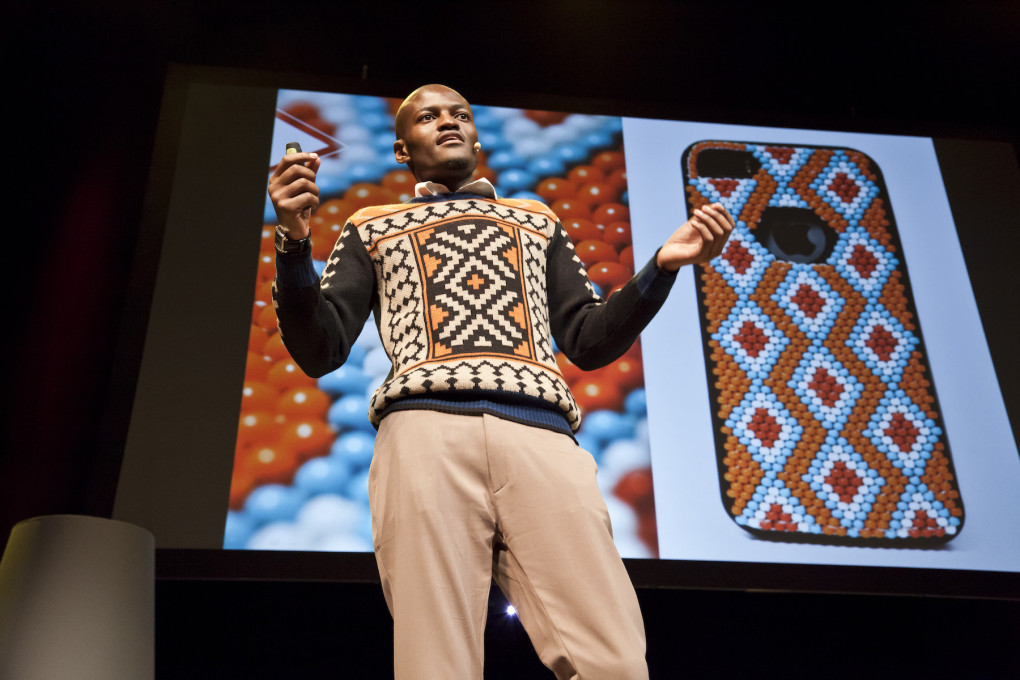Laduma Ngxokolo's brand MaXhosa attempts to give young Xhosa men a way to bridge their culture with contemporary fashion. (Photo © Leo Veger)