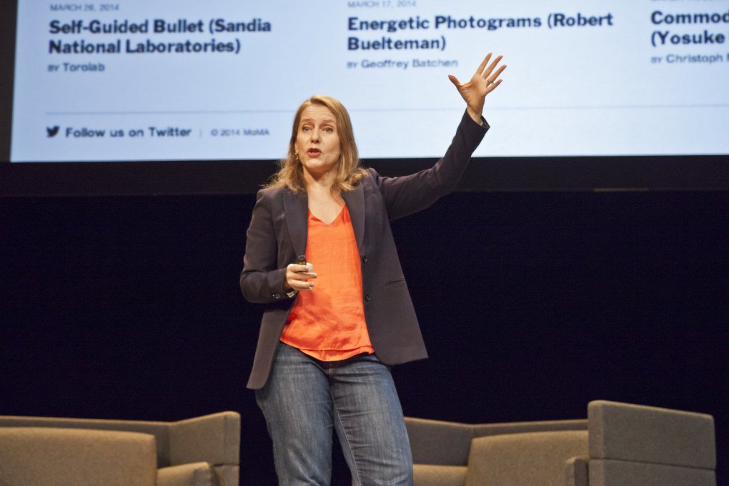 "MoMA curator Paola Antonelli extolled the value of ""ambivalence"" in contemporary culture during a presentation on her Design and Violence project. (Photo © Leo Veger)"