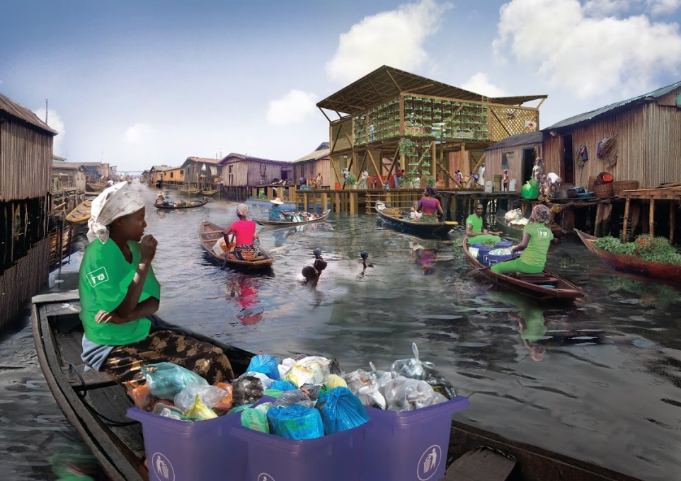 The Waste Incubator: Makoko! by Fabulous Urban transforms the area's massive waste problem by converting organic waste into biogas and manure, collecting plastic for recycling or reselling back to industry. (Photo: Fabulous Urban)
